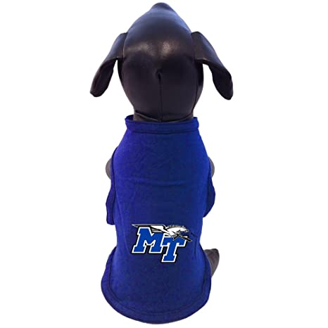 e0bfb65b6 NCAA Middle Tennessee State Blue Raiders Cotton Lycra Dog Tank Top, X-Small