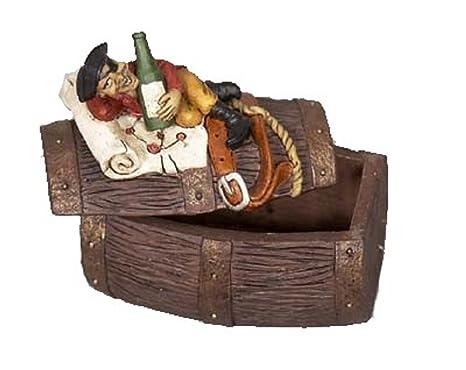 Amazon.com: Nauti pirata sobre un barril sosteniendo Ron ...