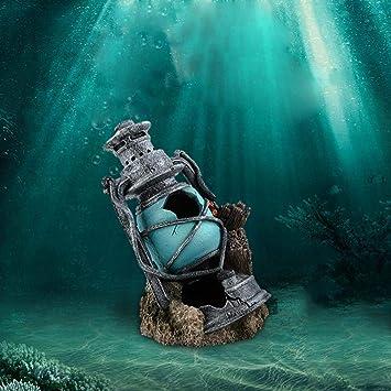 ... para Adornos Muebles Faro artesanías Adornos Mini Modelado Acuario y pecera paisajismo Escapar Cueva escondite Peces camarones: Amazon.es: Hogar
