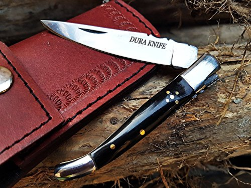 DK-01 Camel Bone 3'' Custom Handmade Stainless Steel Bolster Folding Pocket Knife 100% Prime Quality Plus Beautiful Buffalo Horn Stainless Steel Pocket Knives Limited Edition