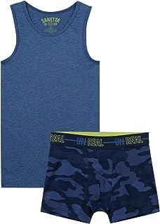 Sanetta Jungen Unterwäscheset Blue Camouflage