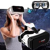 3d VR Lunettes casque/Bevifi, casque de réalité virtuelle 3d téléphone portable film 3d/jeu visionneuse [Nouvelle] + Télécommande amovible pour iPhone 7/6S Plus Samsung Galaxy S7edge et autres 11,9- 15,2cm téléphones portables