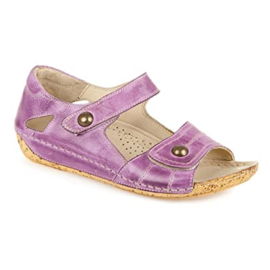 13f5c1ed69a0 Pavers Leather Touch Fasten Sandal 307 977 - Purple Size 5 (38)