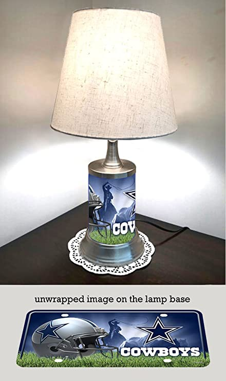 Amazon Com Js Table Lamp With Shade Dallas Cowboys Plate Rolled