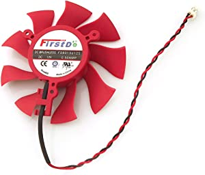 FD8015U12S 12V 0.5A 75mm 2 Pin Replacement Cooling Fan For HD6790 HD6870 HD6770 HD4860 HD4890 Graphics Card Fan