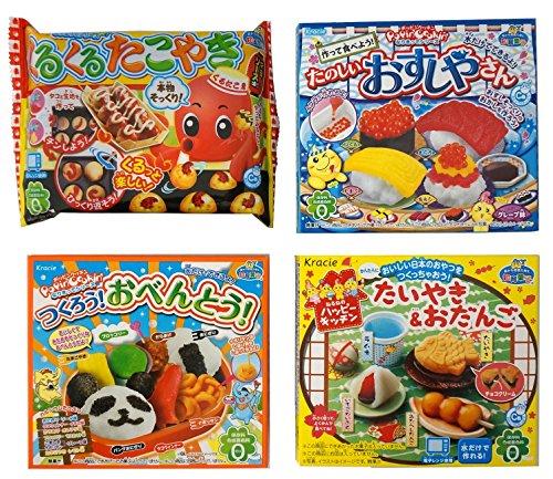 - Assortment of 4 Kracie Popin Cookin & Happy Kitchen Kits