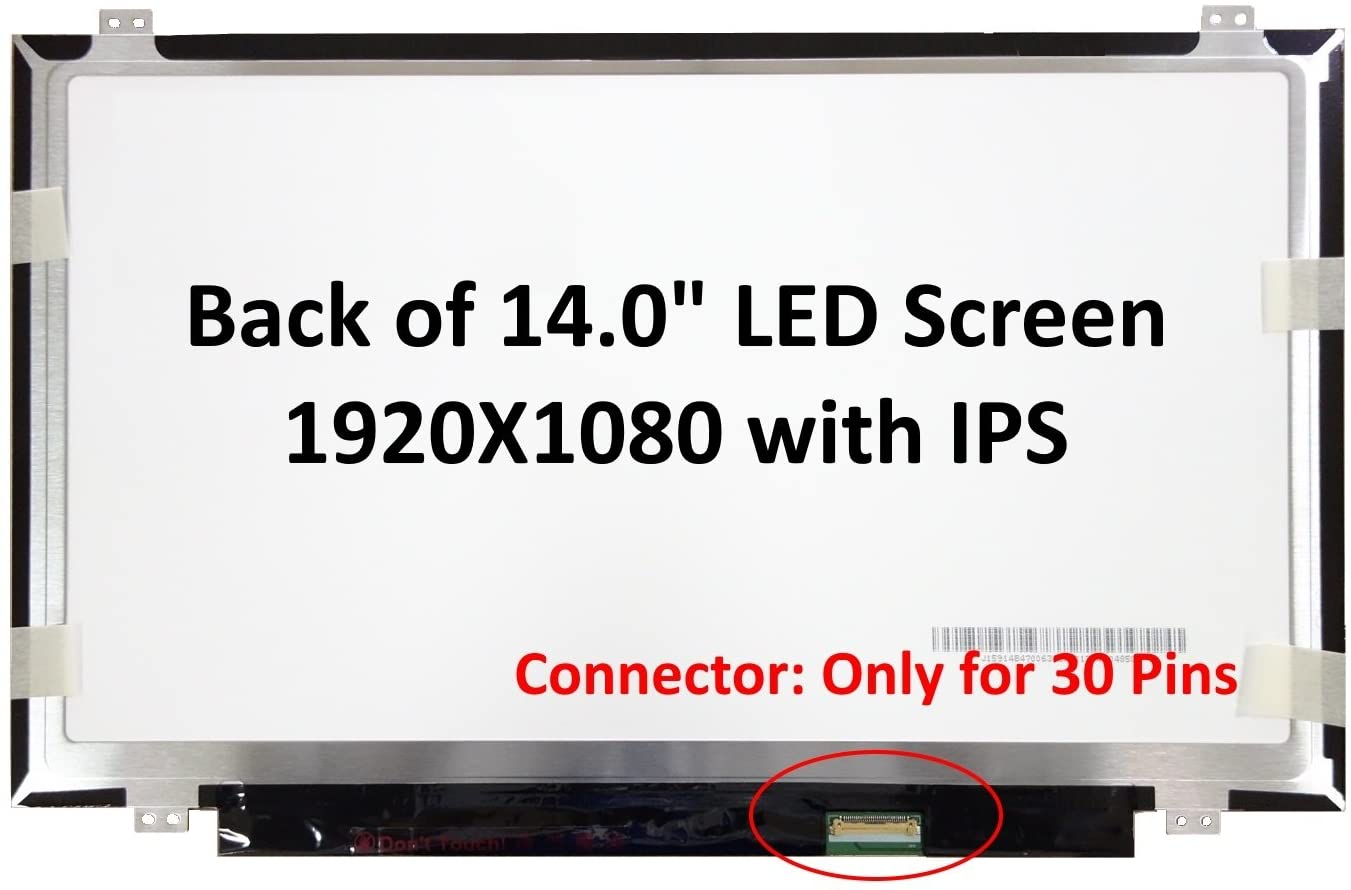 BRIGHTFOCAL New LCD Screen for Lenovo Thinkpad T480 FHD 1920x1080 IPS Replacement LCD LED Display Panel Only