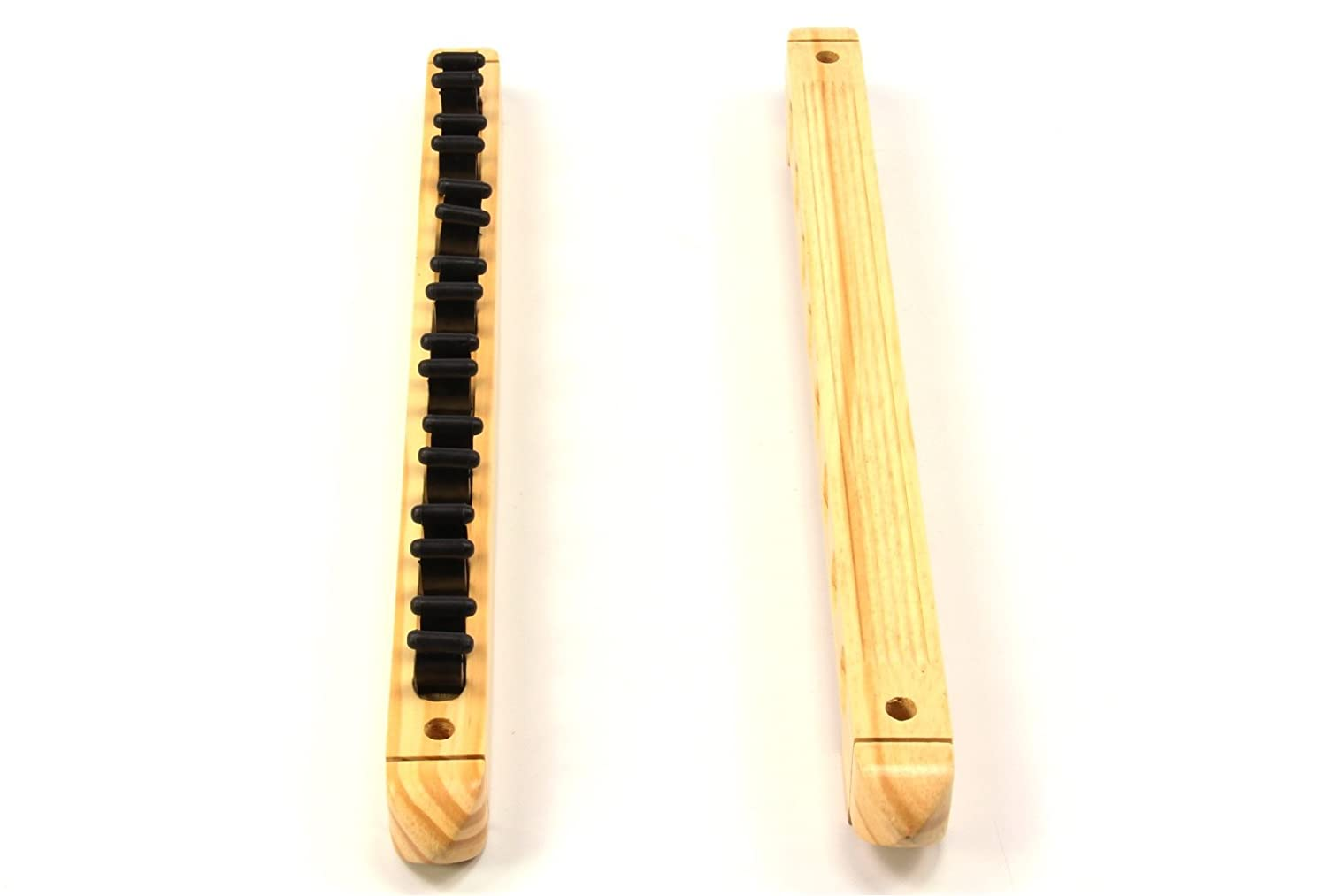holds Up To 8 Cues LIGHT OAK 8 Way CLIP Snooker Pool Cue Wall Mounted Rack