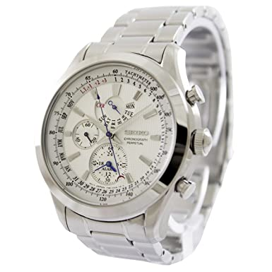 Seiko Men's Alarm Chronograph,Perpetual Calendar,100m WR - SPC123P1 Men at amazon