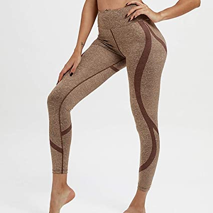 fd311dac66aea0 Amazon.com : Women High Waist Yoga Pants Print Tummy Workout Running Sports  Leggings : Sports & Outdoors