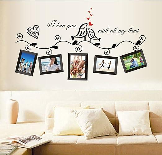 12 opinioni per ufengke® Uccelli di Amore Romantico Photo Frame Adesivi Murali, Camera da Letto