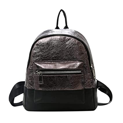 Housesczar Women PU Leather Mini Backpacks Teenage Girls Casual School Bag  Zipper Shoulder Bag for Travel  Amazon.in  Bags 30b18ff629fbb