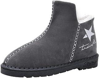 Bottes pour Dames d'hiver, Honestyi Cinq étoiles de Neige Bottes Cheville Fond Plat Chaud Troupeau Chaussures Chauffe-Plat Plateforme Femmes Commencer à Imprimer Chaussures