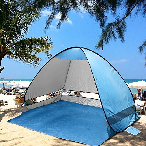 Kany Outdoor Automatic Pop up Instant Portable Cabana Beach Tent 2-3 Person Camping Fishing Hiking Picnicing Protective Anti UV Beach Tent Sun Shelter Canopy Quick Set Up