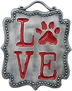 product image for Rockin Doggie Dog Lover's Wall Plaque - Love Paw Print