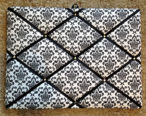 Damask on White with Black Ribbon French/memo Board - Shop Memo Boards