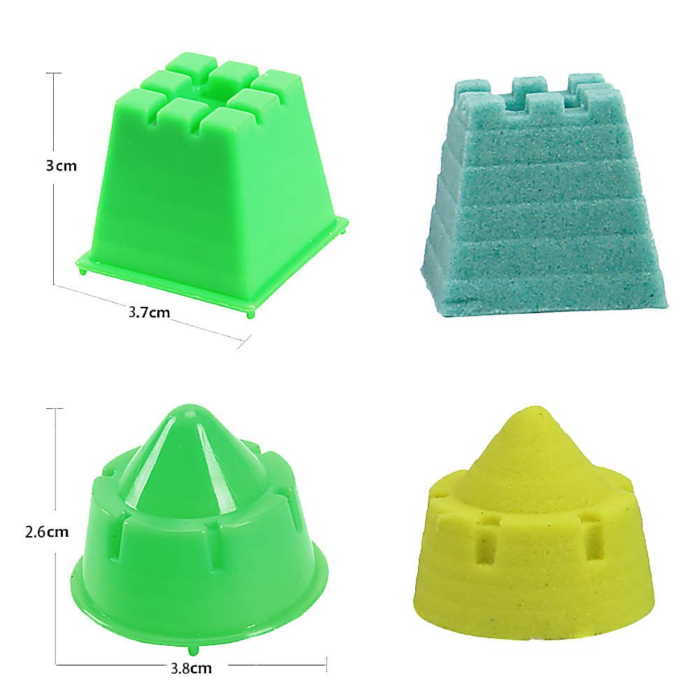 MMRM Mini Size Creative Sand Molding Tools 6Pcs Castle Building Model Beach Toys Kit for Kids - Random Color