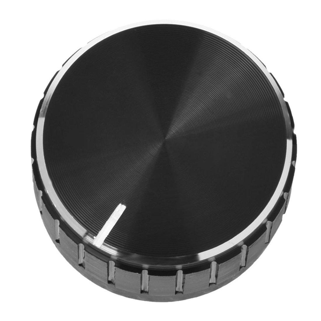 SODIAL(R) Black Aluminum Volume Control Amplifier Knob Wheel
