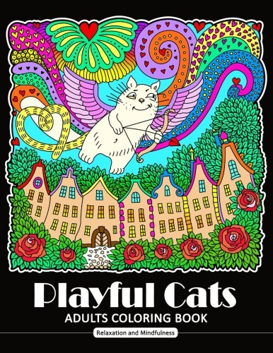 Playful Cat Coloring Book for Adults: Cat and Kitten Coloring Book for all ages (Zentangle and Doodle Design) PDF