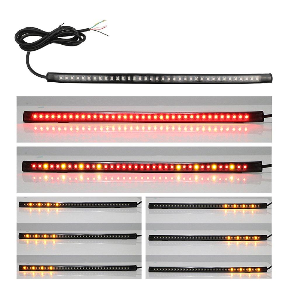 OurLeeme 12' Flexible 36 LED Auto Moto bande Phare arriè re de frein Stop Bar Lumiè re vive Clignotants signal de position marqueur lampe SMD 3528