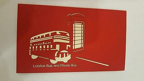 Tarjeta 3D de Londres Bus un teléfono caja: Amazon.es: Hogar