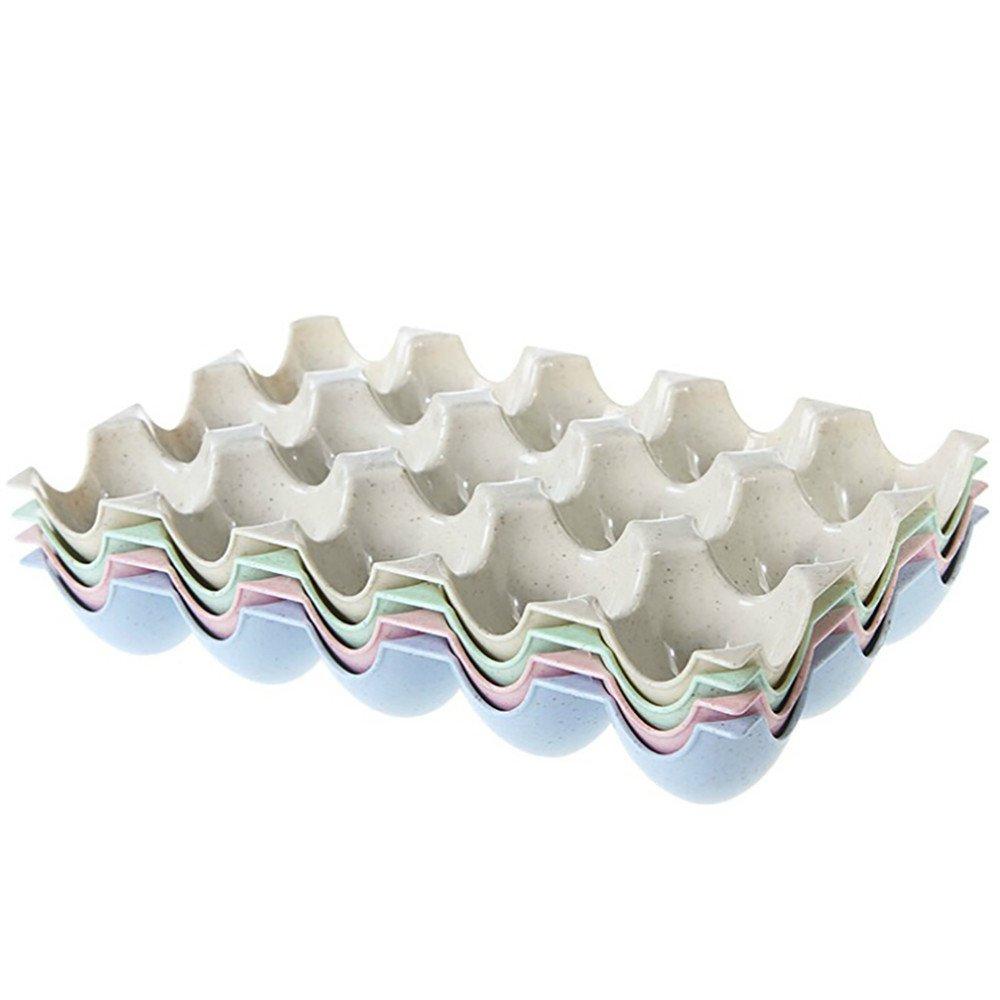 Quaanti Storage Boxes & Bins - Egg Plate,Egg Holder Box Refrigerator Storage Tray for 15 Eggs Shatter-Proof Make up Storage Organizer Plastic Box Kitchen Cabinet Restaurant Fridge (Beige) by Quaanti (Image #3)
