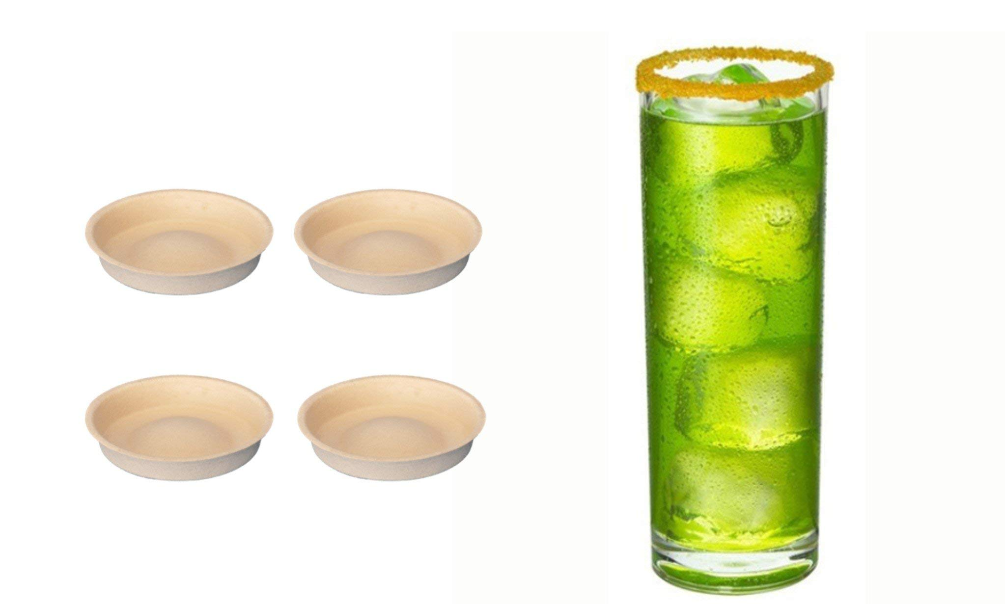 Mango Flavored Cocktail Glass Rim Sugar - 4 Pack RoxiSpice Tower Cartridges by RoxiSpice