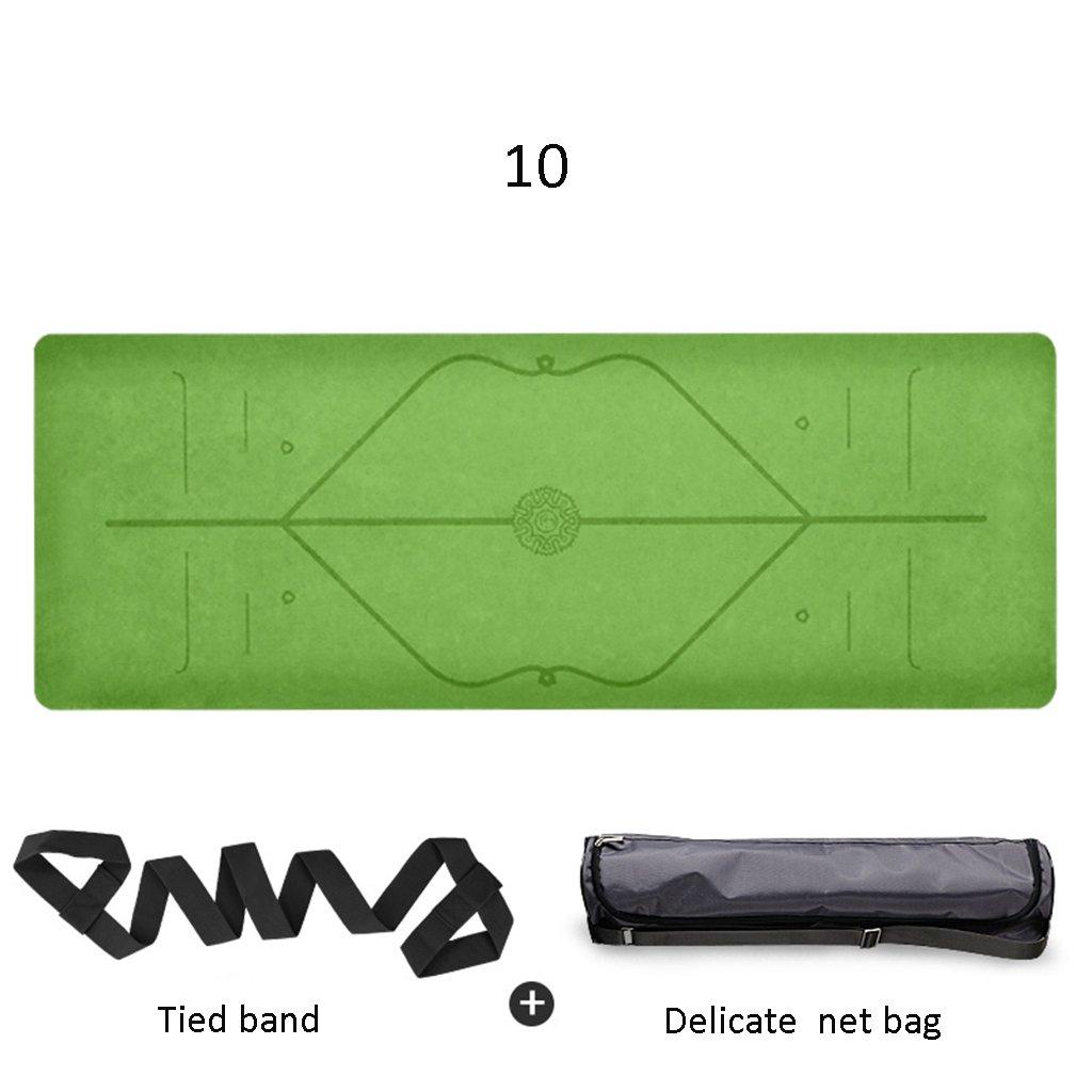 J Pique-Nique Tapis de Yoga portatif en Caoutchouc Naturel de 183cm  68cm  5mm de Prougeection environnementale antidérapant