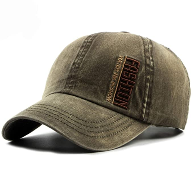 94ce65b302e Washed Canvas Baseball Caps Men Women 6 Panels Dad Hats Embroidery Letters Caps  Baseball Hats Army