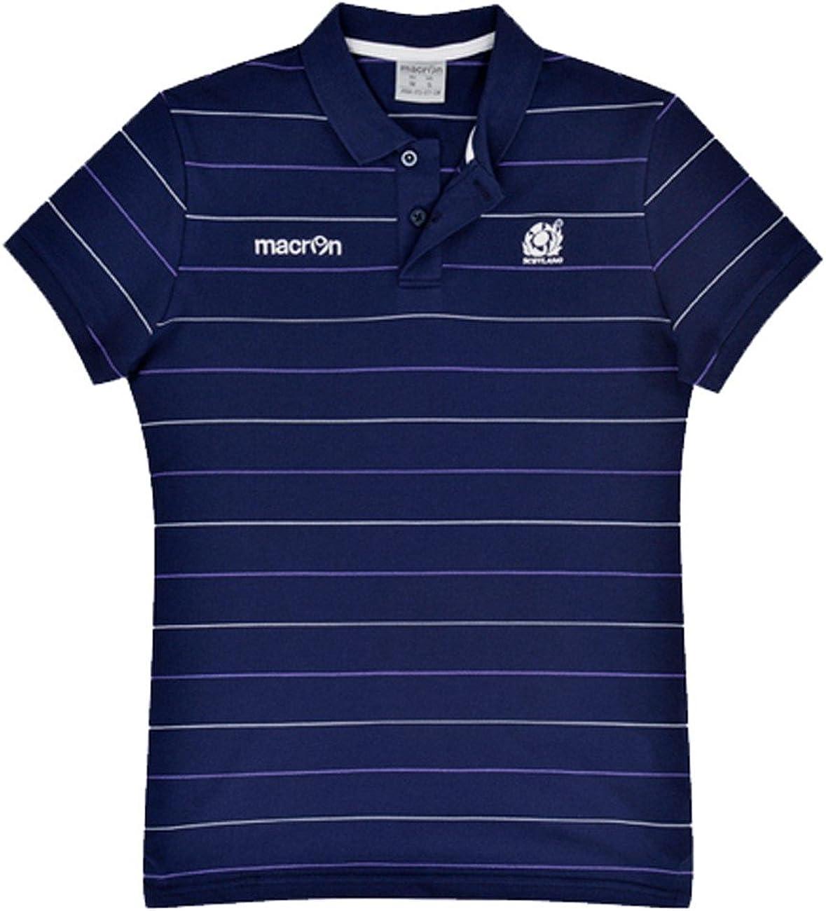 Macron Polo de Escocia Equipo de Rugby XL, Azul: Amazon.es: Ropa y ...