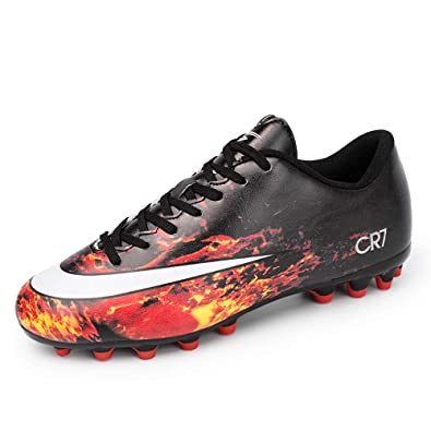 285857e98 Image Unavailable. Image not available for. Color: ZNZ CR7 AG Indoor Cleats  Big Boys Low Cut Ankle Boots Women AG Outdoor Soccer Shoes