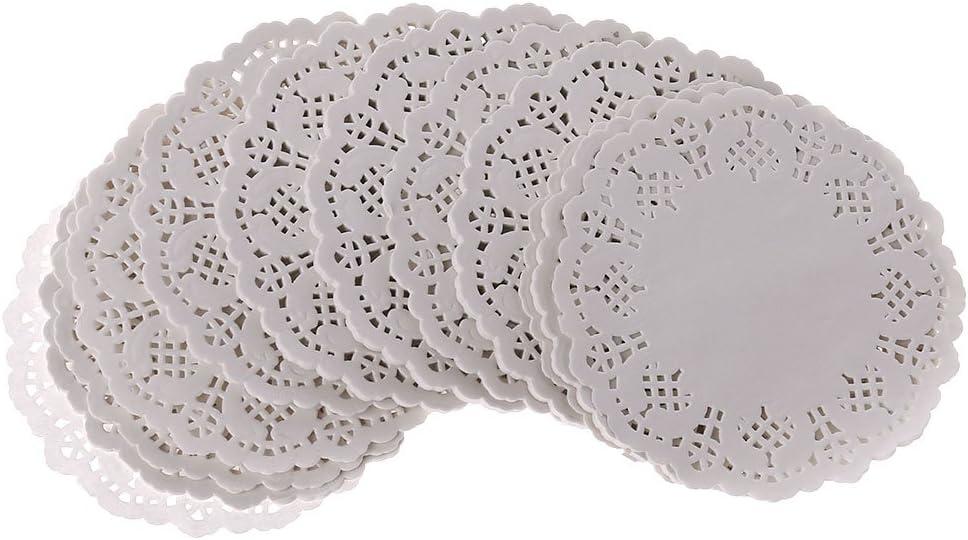 GROOMY 200 Pi/èces Rond Dentelle Papier Tapis sous-Verres Sets De Table /Év/énements De Mariage Party Table Gift