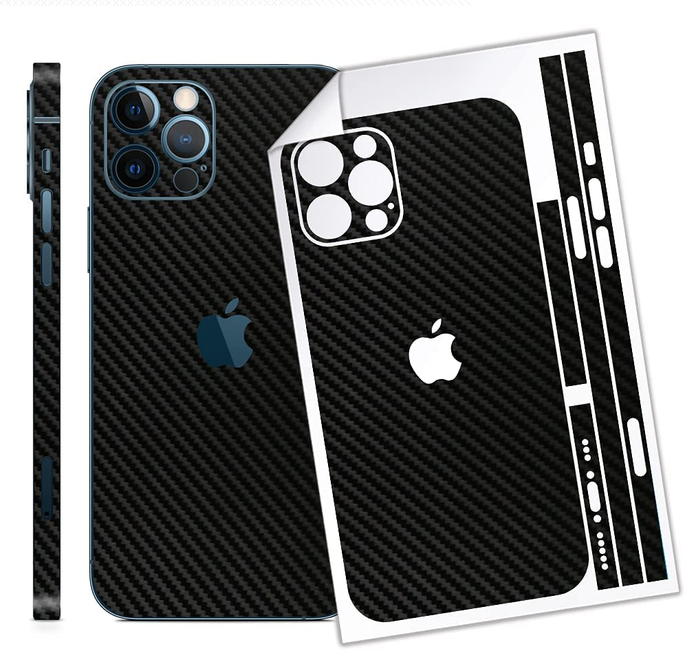 Bloom Skins for Apple iPhone 12 Pro Max   Luxury 3M Carbon Fiber Protective Vinyl Skin Decal Full Body Wrap Film Premium Ultra Slim Cover Back Sticker with 3D Texture   Made in USA