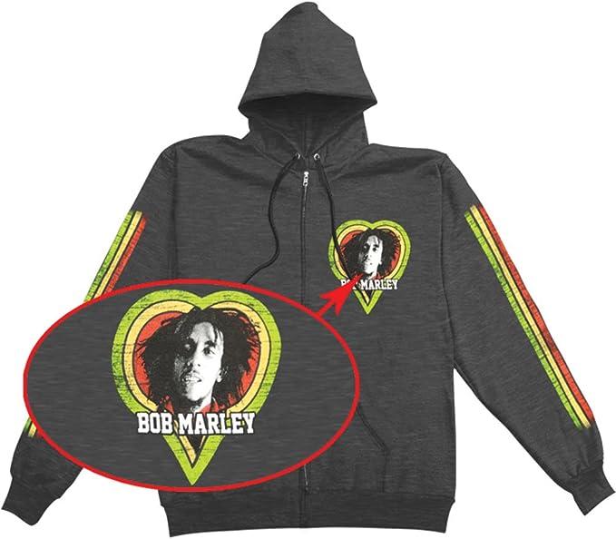 Bob Marley One Love Smile Juniors Zip Hoodie