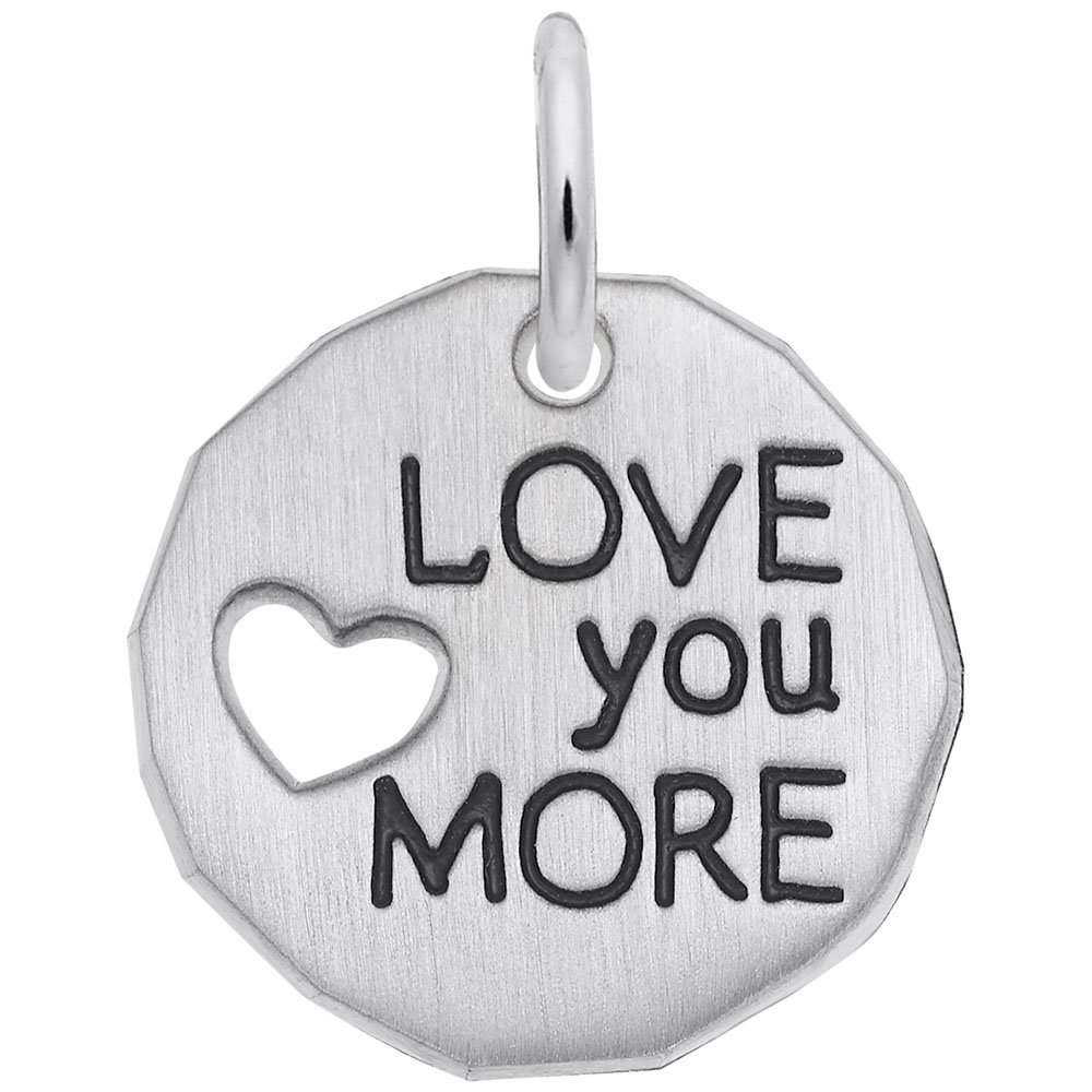 Rembrandt Charms, Love You More.925 Sterling Silver, Engravable