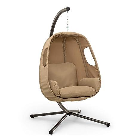 Blumfeldt Bella Donna sillón Colgante • Balanceo Suave y Relajante • Unique Comfort • Cojines Acolchados, 12 cm de Relleno • Acolchado Lateral • Patas ...