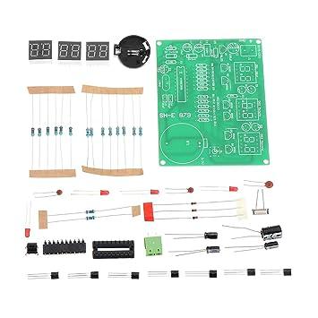 DIY 6 Digital LED Electrónico DIY Reloj Kit Electrónico Componentes Piezas 9V-12V AT89C2051