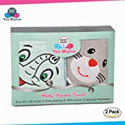 Premium Hooded Baby Towels for Boys & Girls - Soft Cotton Toddler Towel with Hood Set - Unisex Infant & Newborn Bath Towels with Hood for Boy Or Girl - Baby Shower Gift (Grey and Mint Green 2 Pack)