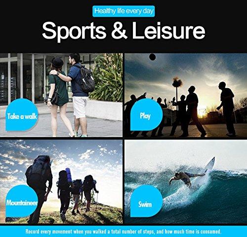 Modiwen Reloj digital inteligente deportivo para hombres, moda, Bluetooth, calorías, podómetro, cronógrafo, para exteriores, resistente al agua 5 bar, reloj de pulsera