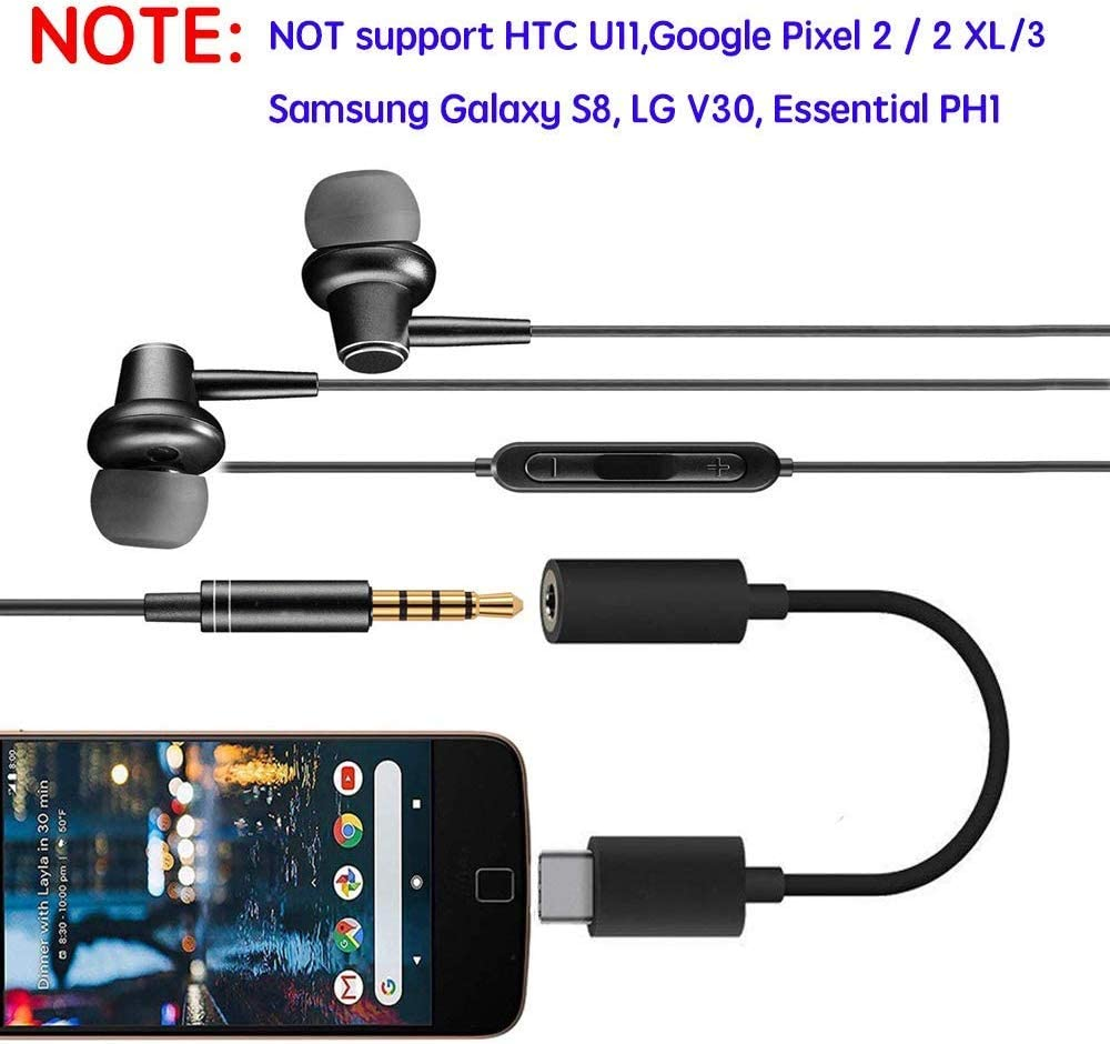 Weudozue 2 Pack Type C Port to 3.5mm Aux Microphone Stereo Jack ...