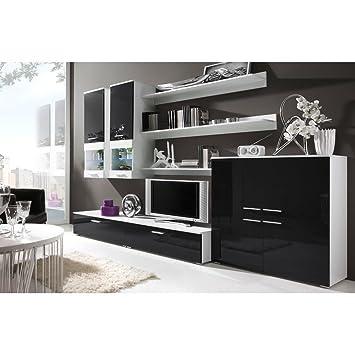 9d768fd0c54 JUSTyou Cami II Muebles de salón Comedor Color  Blanco Mat Negro Brillante   Amazon.es  Hogar