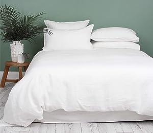 Premium Super King Duvet Cover Sets 600-Thread-Count Soft Egyptian Cotton Quilt Cover (260 cm x 220 cm) with 4 Oxford Pillowcases (50 cm x 90 cm), Luxurious European Bedding (White)