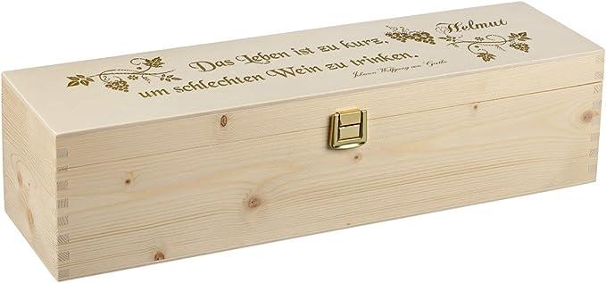 Caja de Vino de Madera con Grabado diseño de poesía: Amazon.es: Hogar
