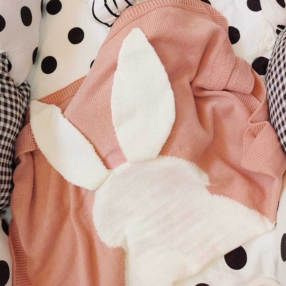 Couverture chaude pour b/éb/é pour filles gar/çons Unisexe Hiver Polaire Coton Sprouting Lapin Air conditionn/é Couverture en laine