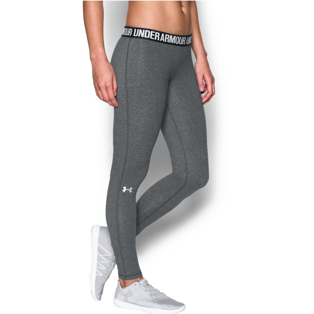 Under Armour Women's Favorite Legging,Carbon Heather /Metallic Silver, X-Small