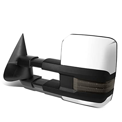 FOR 99-02 TAHOE//YUKON CHROME RIGHT POWERED+HEAT+SMOKED LED SIGNAL TOWING MIRROR