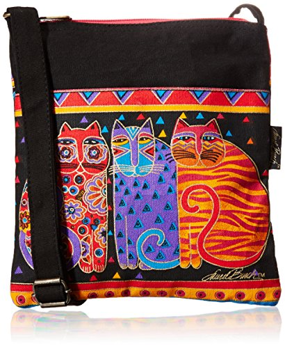 laurel-burch-crossbody-purse-zipper-top-10-by-10-inch-feline-friends
