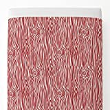 Carousel Designs Red Woodgrain Toddler Bed Sheet Top Flat