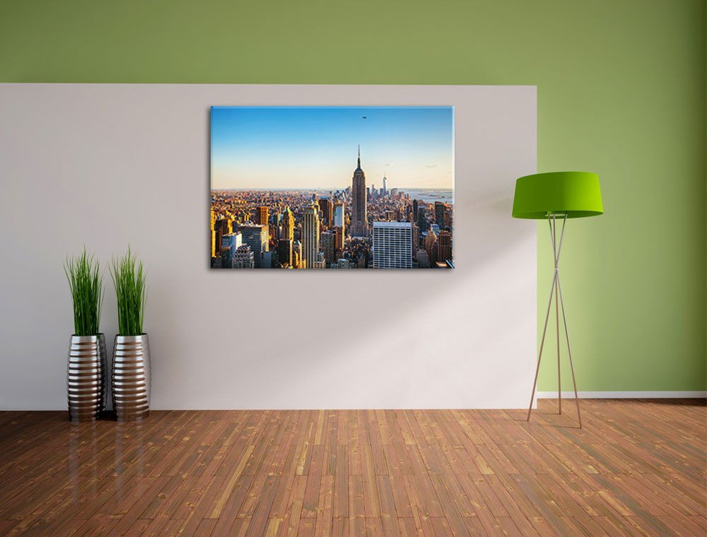 Empire State Building in New York Format: 60x40 auf Leinwand, XXL ...
