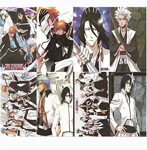 [Vicwin-One Bleach Kurosaki Ichigo Posters Wallpaper Cosplay(8 pieces 11.416.5Inch)] (Hitsugaya Cosplay Costume)